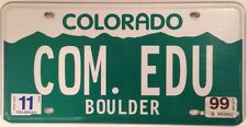 Colorado vanity COM . EDU license plate Community Communication Education