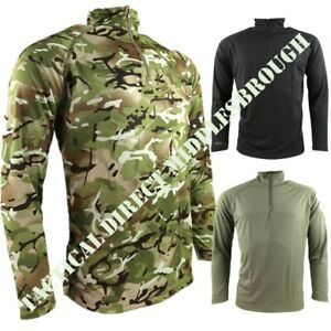 ARMY OPERATORS TACTICAL MESH TOP MENS S-3XL 1/4 ZIP WICKING STRETCH T-SHIRT