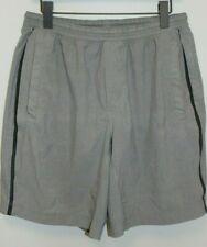 Lululemon Men's Gray Loose Fit Athletic Running Cycling Shorts sz L