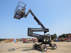2012 JLG 450AJ 45' 4WD Articulating Boom Lift Man Aerial Platform Jib bidadoo