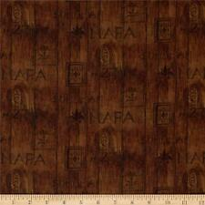 Digital Print  Sonoma Country Wine Wood Slat 100% cotton fabric by the yard