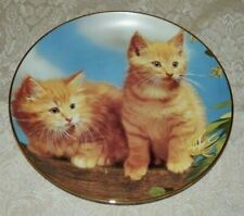 Danbury Mint Sugar And Spice Plate Guy Withers Purrfect Portraits Kittens Cats