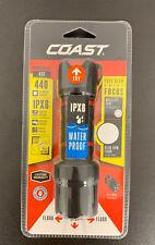 Coast Waterproof Focusing LED 440 Lumens Flash Light Polysteel 400 New