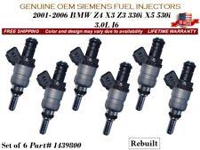 6 Fuel Injectors OEM Siemens 2001-2006 BMW Z4 X3 Z3 330i X5 530i 3.0L I6 1439800
