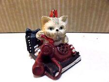 VINTAGE  BRADFORD  NOVELTY  CHRISTMAS  DECOR  CAT AND PHONE