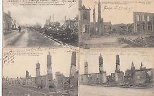 Lot 4 cartes postales anciennes GUERRE 14-18 WW1 MARNE PARGNY-SUR-SAULX 2