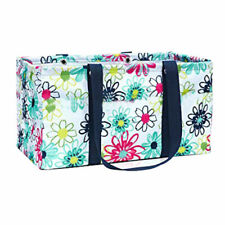 Thirty One LARGE UTILITY tote beach laundry storage Bag 31 gift in Loopsy Daisy