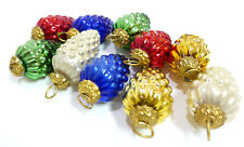 10 Vintage Glass Grape Cluster Kugel Style Christmas Ornament Heavy India