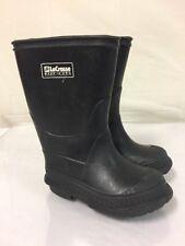 Lacrosse Kid's Black Rubber Rain Boots Size 7 waterproof