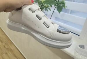 Men White Leather Sneakers Shoes