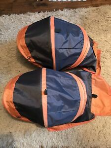 2 X Individual Hoods For Baby Jogger City Mini Double GT Grey/Orange