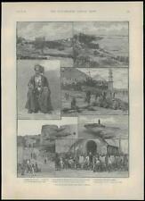 Impresión de África Oriental Británica 1889 Antiguo Kenia Lamu Zanzibar Kismayu (176)