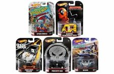 HOT WHEELS RETRO ENTERTAINMENT 2018 SET OF 5 DIECAST MARVEL DEADPOOL SPIDER 1/64