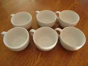 Pampered Chef Simple Additions Oversized White Coffee Cups Mugs #1976 Set of 6