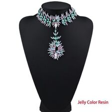 collar colgante multicolor cristal Luxury Boho Crystal Choker Pendant Necklace