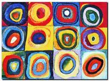 "WASSILY KANDINSKY A3 CANVAS PRINT poster 18""X 12"" circles"