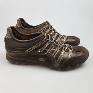 Women's SKECHERS 'Suede' Sz 7 US Shoes Brown VGCon Leather   3+ Extra 10% Off