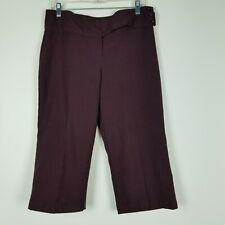 Vintage Bryer Wear Women's Cropped Pants Size 11 Dark Purple  Business Capri