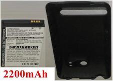 Coque + Batterie 2200mAh type RHOD100 RHOD160 Pour HTC EVO 4G