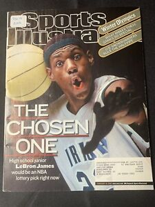 "Sports Illustrated Lebron James ""The Choosen One"" Magazine 2/18/2002 Lakers Cavs"
