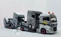 Herpa 311984 MAN TGX XLX Euro 6c LKW-Transporter Hängerzug mit 3 MAN TGX GX