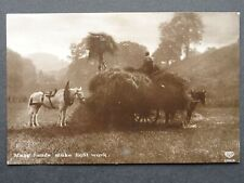 More details for country life hay collecting many hands make light work c1913 rp postcard by eas