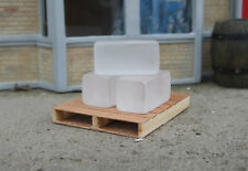 Dry Ice Blocks  (3) Miniatures w Premium Pallet for Display Not Real 1/24 Scale