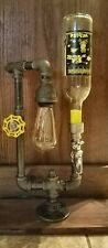 Handcrafted Industrial Pipe combination Desk Lamp/ Drink Dispenser