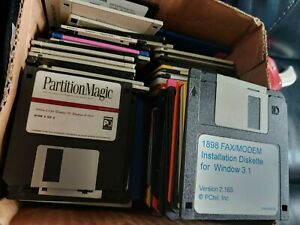 """Vintage 3.5"""" Floppy Disk Software lot assorted games & programs - see photos"""