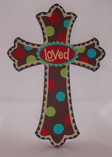 "LOVED Wooden Cross 8"" x 11.5"" by Glory Haus Laura Kirkland Designs Wood Easter"