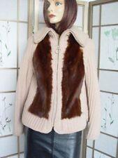 EXCELLENT CLOTH / WOOL JACKET COAT WITH MINK FUR WOMEN WOMAN SIZE 4-6 PETITE