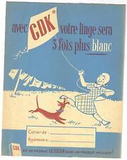 protège-cahier ancien CDK lessive