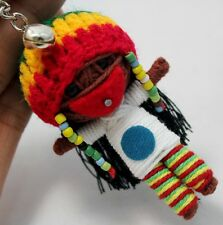 BOB MARLEY REGGAE STRING DOLL VOODOO KEY CHAIN HANDMADE KEYRING TOY CRAFT GIFT