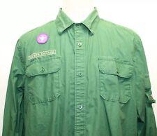 Joe Fresh Canada Scout Green Long Sleeve Men Shirt 100% Cotton W Canada Patch