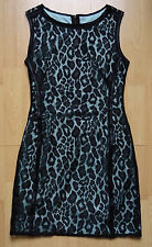MANGO DRESS MINT GREEN BLACK LACE SIZE S UK 8 BRAND NEW WITHOUT TAGS