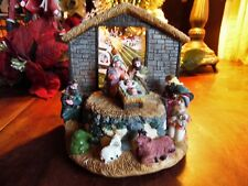 USED NATIVITY ALL ONE PIECE NEW BATTERIES MISSING 1 KING SEE BELOW FOR DETAILS