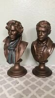 """SHERLOCK Holmes & WATSON Limited Edition Mini Resin Bust figures 6""""H Lot of 2"""