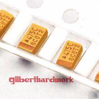 50pcs Tantalum chip capacitors 16V 4.7UF 1206 accuracy 10%