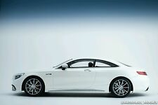 GT Spirit Mercedes Benz S63 AMG Coupe White Dealer LE of 1000 1/18 New In Stock!