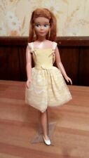 Vintage Barbie RARE REDHEAD SL SKIPPER 1963 Mattel & FLOWER GIRL #1904 DRESS
