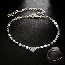 Ankle Jewelry Gold Heart Barefoot Beads Bracelet Chain Foot Beach Anklet