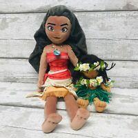 Official Disney Store Moana Movie Princess Plush Soft Toy & Island Friend Bundle