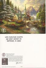 "Thomas Kinkade,""DOGWOOD CHAPEL"" Two (2) Postcards , NEW"