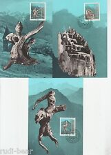 Liechtenstein Nr.   843-45  MK  Sagen  Der Untergag von Trisona