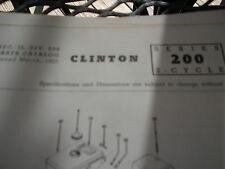 clinton parts list,clinton 200 illustrated antique clinton engine 1963 print