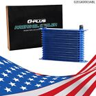 15 Row An10 Engine Fit For Universal Transmission Aluminum Oil Cooler Blue