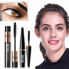 2Pcs 4D Silk Fiber Eyelash Mascara Extension Curl Waterproof + Lash Mascara Set
