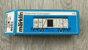 MARKLIN 4692 HO GAUGE COVERED DR GOODS WAGON - 86 169 - boxed