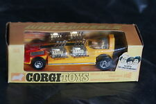 Corgi  165  Adams 4 Engined Dragster - Yellow & Red in the Early Box