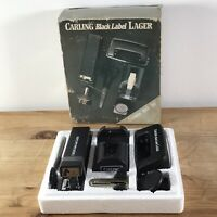 Carling Black Label Executive Desk Set Vintage Retro Father's Day Stapler Punch